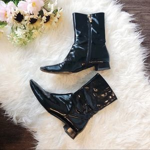 AUTHENTIC GUCCI PATENT LEATHER BOOTS